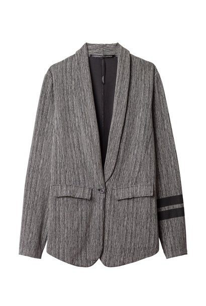 Blazer, thin stripe charcoal