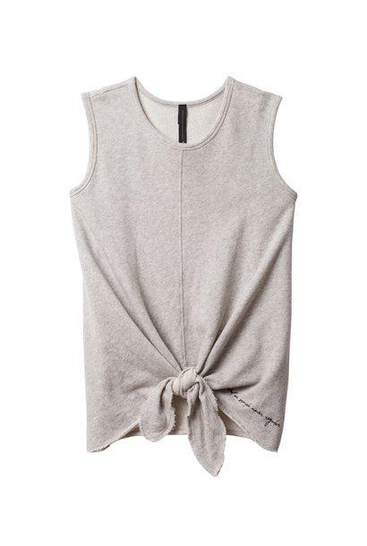 T-shirt, Knot top light grey melee