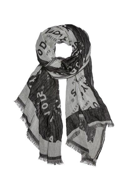 Sjaal logo diagonal Grey