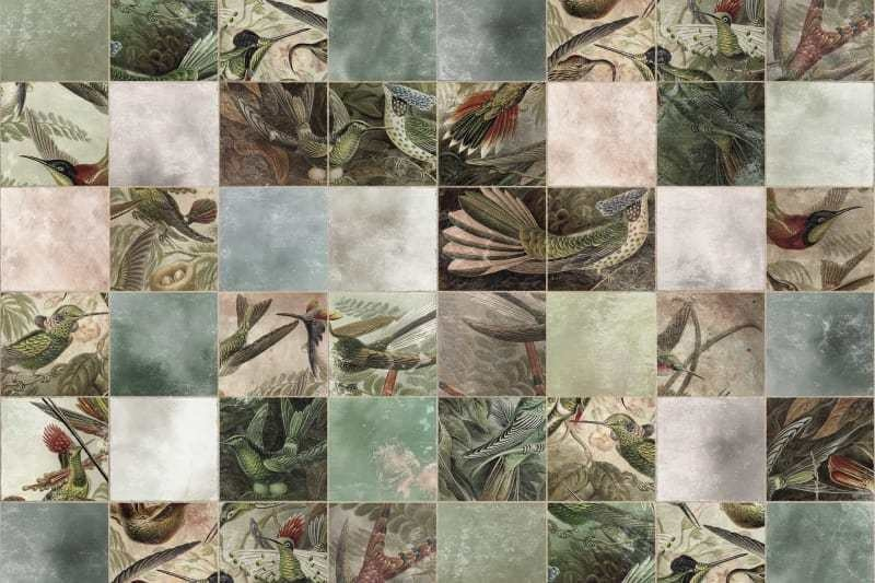 Behang Birds of Paradise Tiles-1