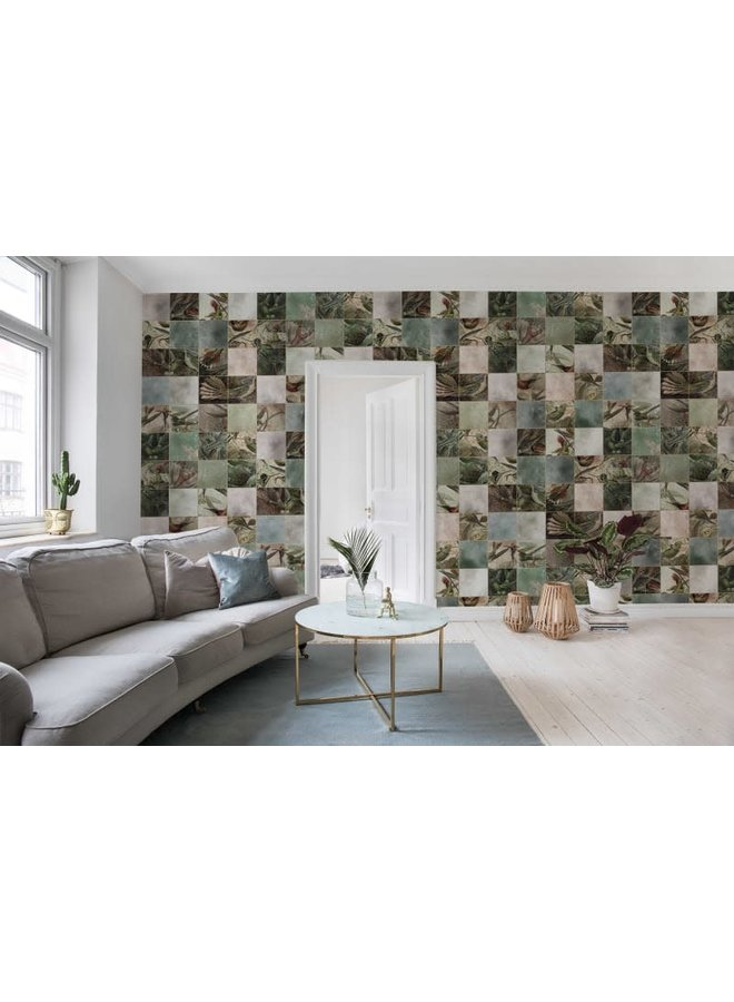 Behang Birds of Paradise Tiles
