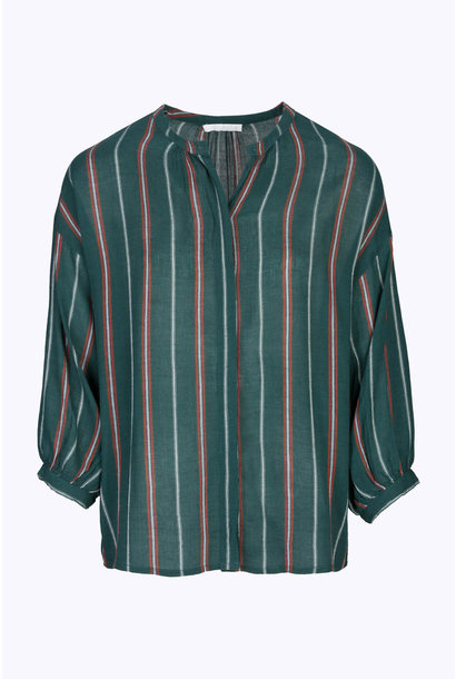 Blouse cecile striped blouse 465 dark green