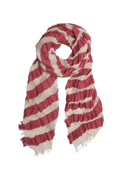 Sjaal, Scarf stripe 1003  bone