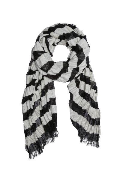 Sjaal, Scarf stripe 1012  Black