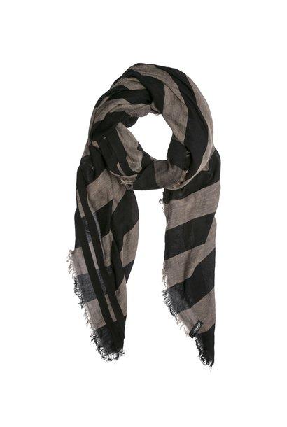Sjaal, Scarf stripe charcoal