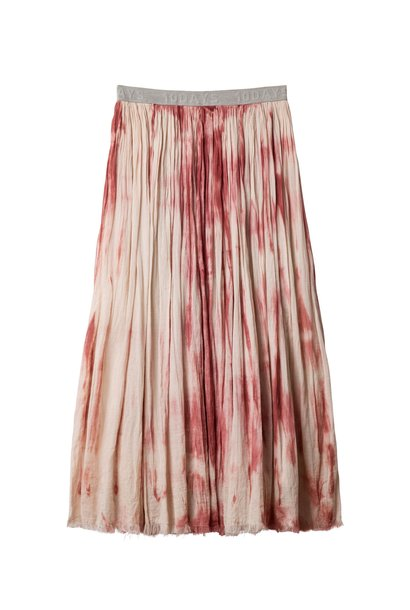 Rok, skirt tie dye dark rose