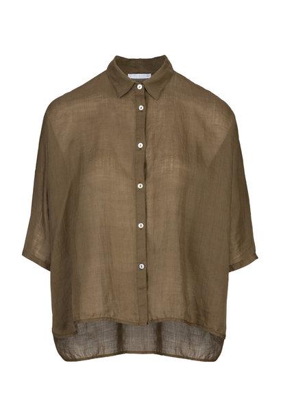Blouse norel linen blouse 470 earth