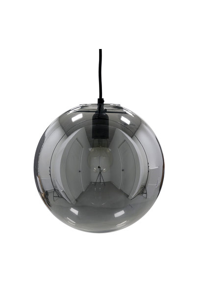 Lamp glazed ball lamp smokey grey