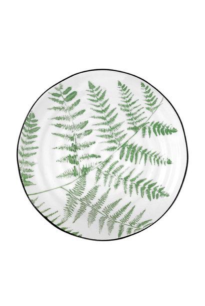 Bord 'jungle' porcelain serving plate ferns