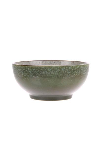 Kom ceramic 70's salade bowl m: grass