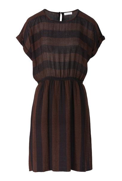 Jurk senna stitch dress  860 black