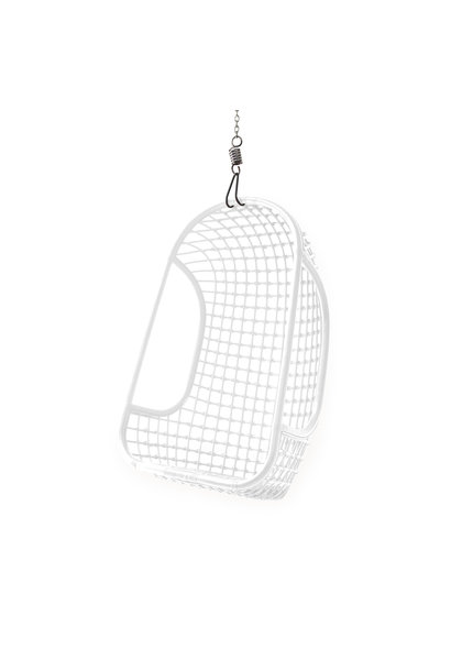 Hangstoel hanging rattan chair white