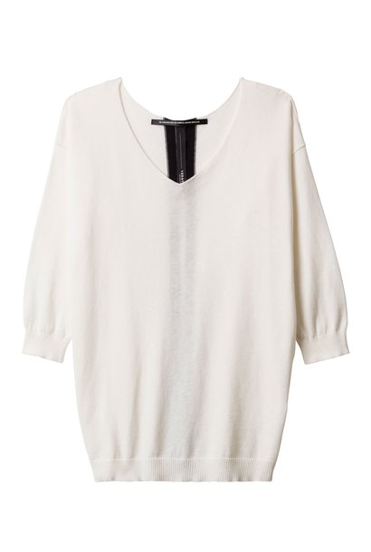 Trui V neck sweater 1002 Ecru