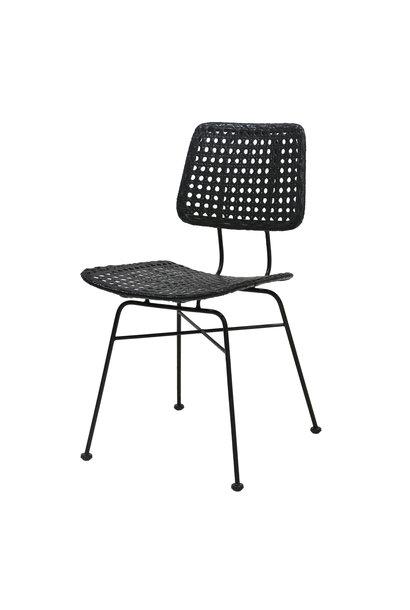 Stoel rattan desk chair black