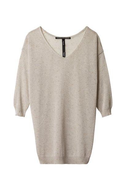 Top, V-neck sweater bush blush
