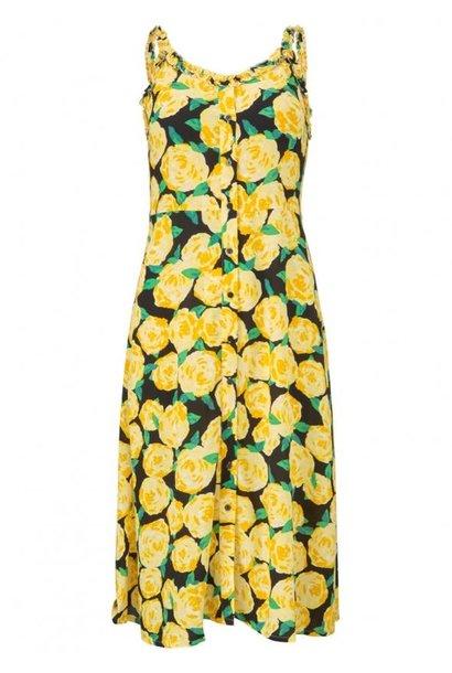 Jurk Oriental print dress 11744 flowerhead