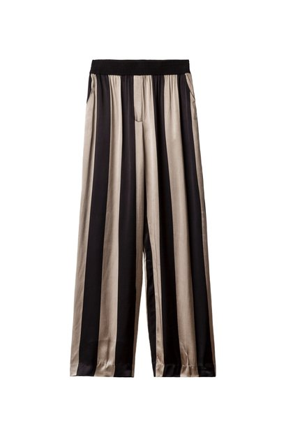 Broek, wide leg pants big stripe toppo