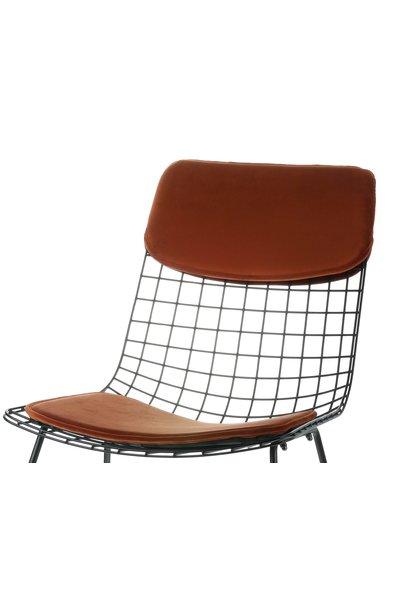 Kussens wire chair comfort kit velvet terra
