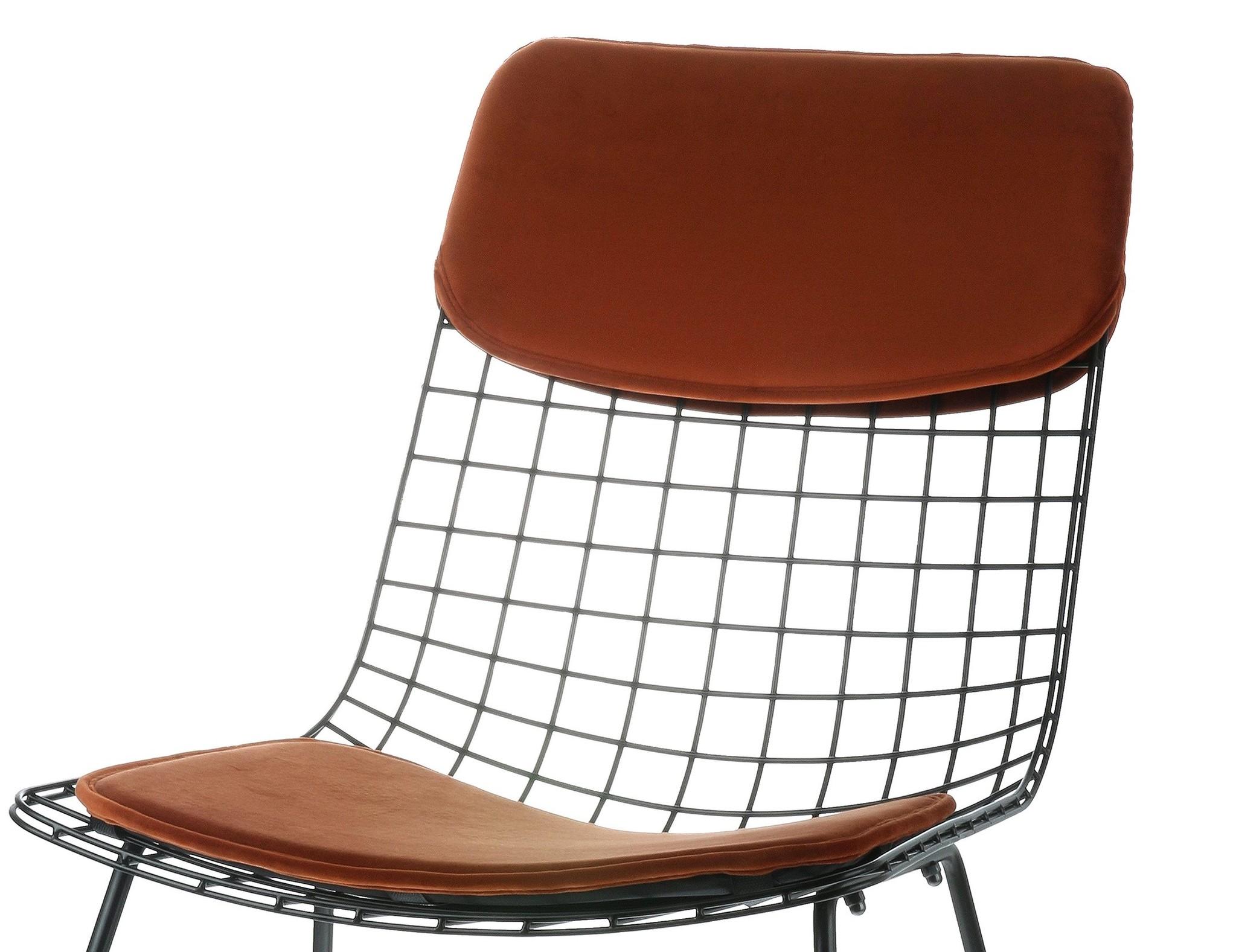 Kussens wire chair comfort kit velvet terra-1