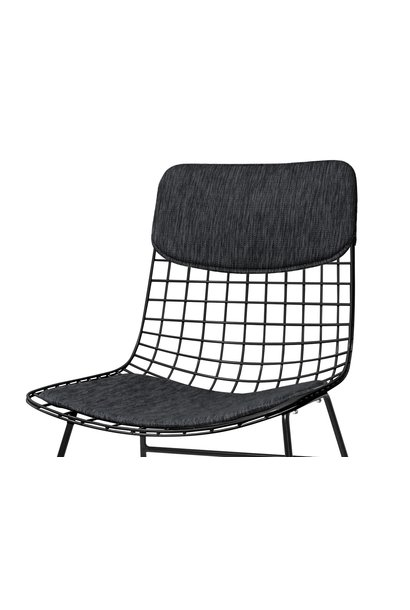 Kussens wire chair comfort kit black