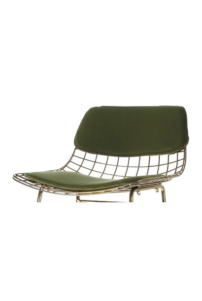 Kussens wire bar stool comfort kit velvet green