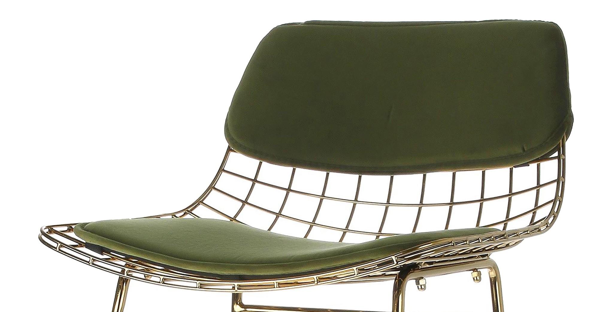 Kussens wire bar stool comfort kit velvet green-1
