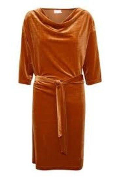 Jurk selba velvet dress 52481 picante