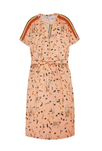 Jurk All over printed dress 1127 Melon