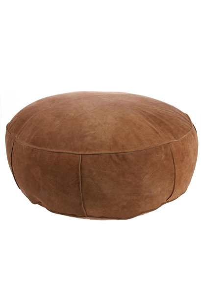 Poef suede pouf dark brown XL