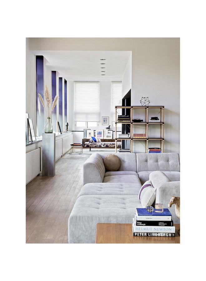 Bank vint couch: element middle, corduroy rib, crème