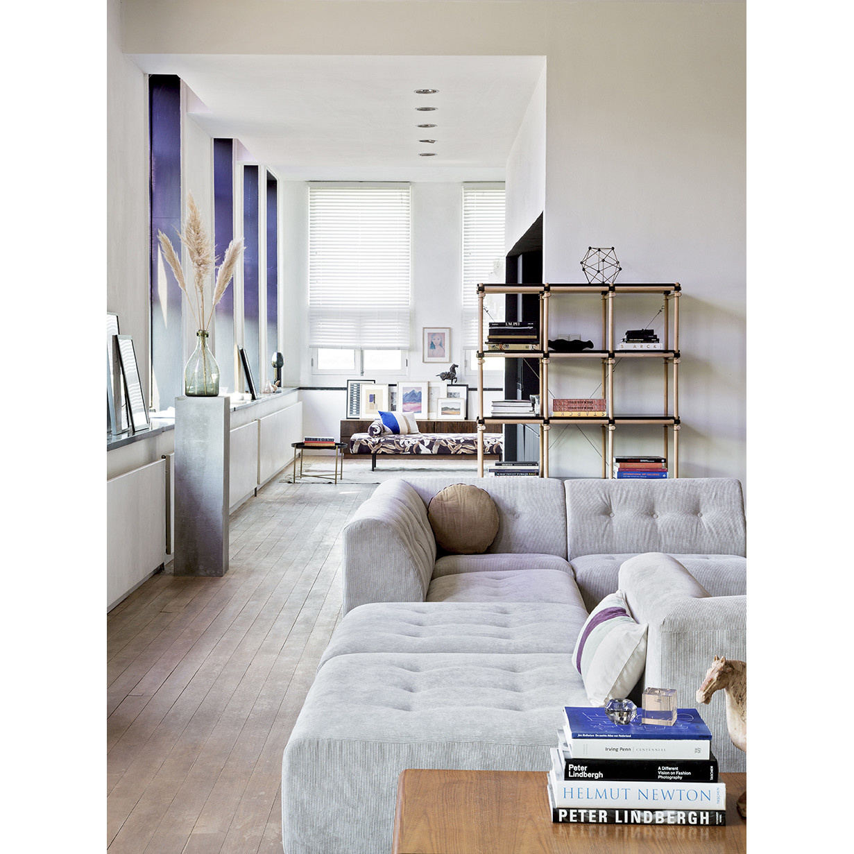 Bank vint couch: element middle, corduroy rib, crème-2