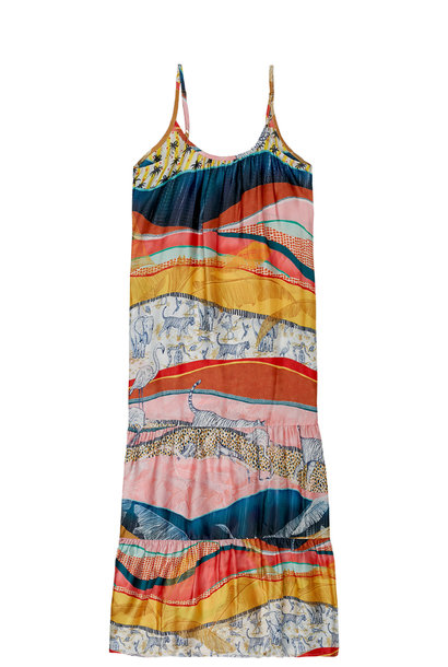 Jurk Strappy summer dress with all over print 1200 multicolour