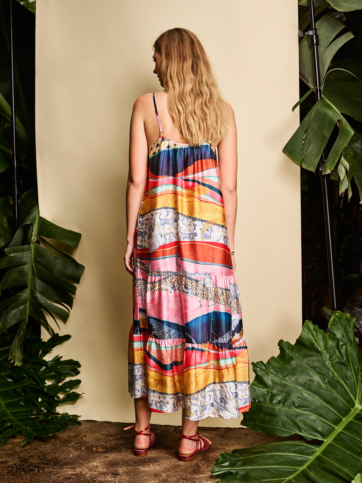 Jurk Strappy summer with all over print 1200 multicolour-4