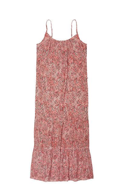 Jurk Animal print strappy summer dres 5502 Rose