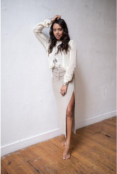 Rok Adiva Knitted Wrap beige