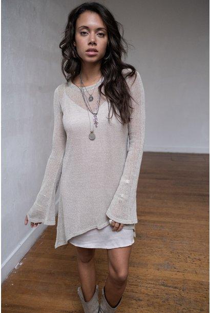 Jurk Amina Knitted Dress beige