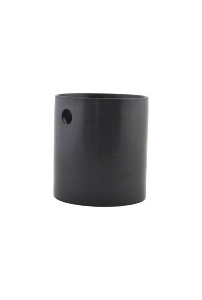 Pot Jar cutlery, matte black 15x16cm