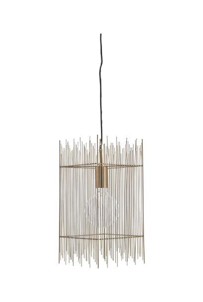 Hanglamp lamp ace brass 22x22x45cm