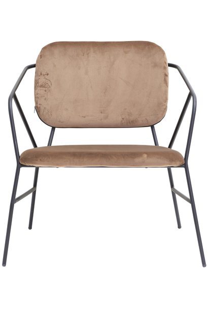 Fauteuil lounge chair Klever brown