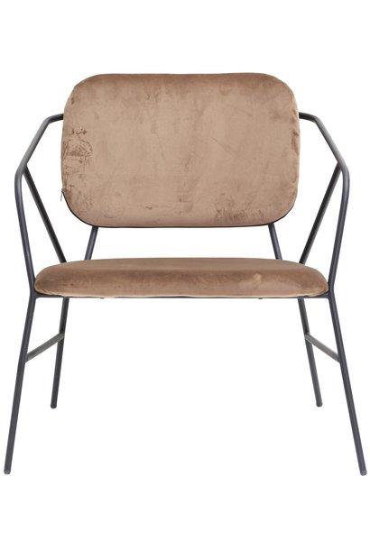 Stoel lounge Klever brown