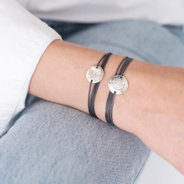 Armband Jewelry Postcard Moon silver Grey-2