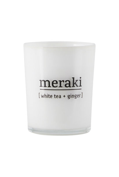Kaars scented candle white tea ginger