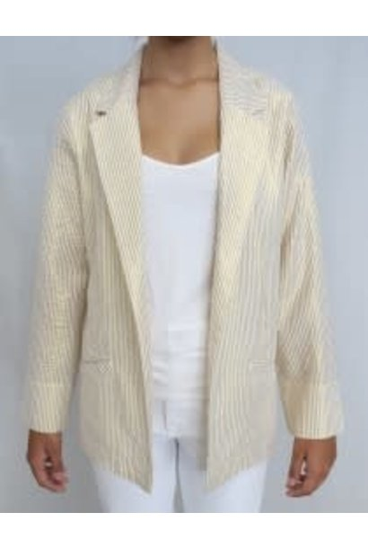 Blazer striped emboirder