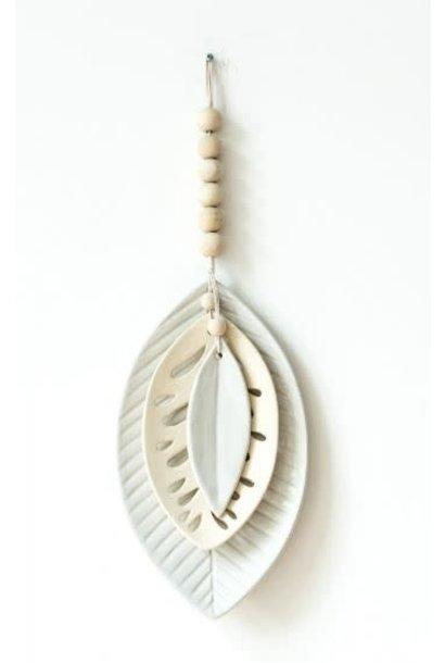 Wandhanger ceramics leaves mala