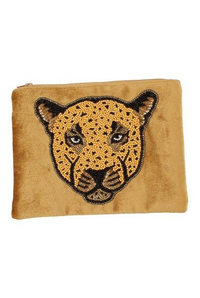 Pouch Velvet leopard