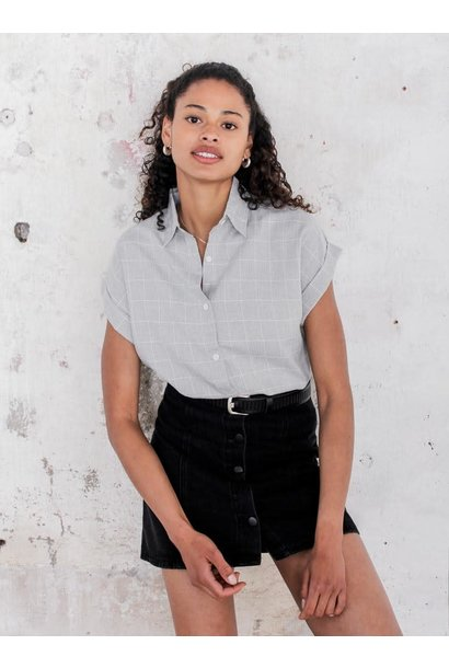Blouse Charlie checked Grey