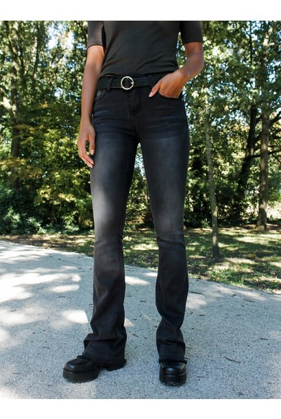 Jeans high waist flared Black