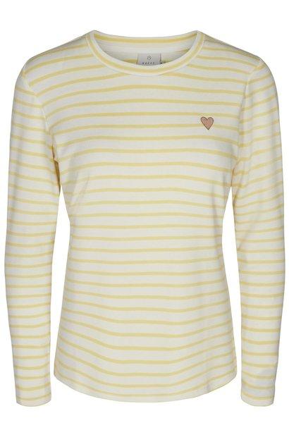 Shirt LS Liddy 50216 yellow cream