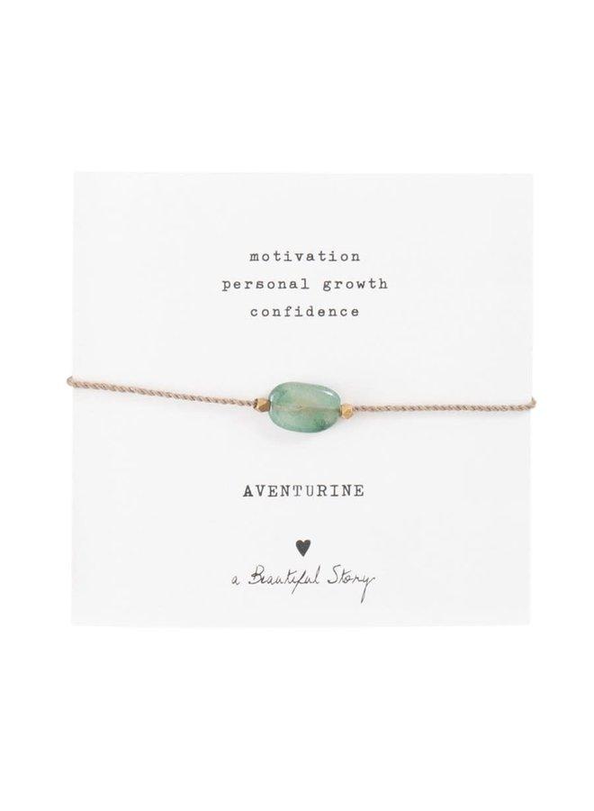 Armband Gemstone Card Aventurine Gold Green