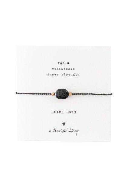 Armband Gemstone Card Black Onyx Gold
